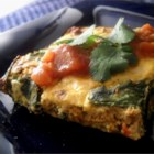 Corn Tortilla Quiche - Perfect for breakfast, lunch, or dinner, the crispy tortilla crust makes this tasty quiche a snap to prepare.