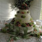 Wedding Cake - This is a very simple moist white cake. It works best if all of the ingredients are at room temperature.