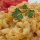 'Got Some Crust' Macaroni and Cheese - This delicious macaroni and cheese is topped with a crispy and cheesy Cheddar crust.