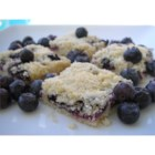 Blueberry Shortbread Bars - Buttery shortbread is baked in a pan topped with blueberries and shortbread crumbles for quick and easy bar cookies.
