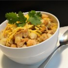 Slow-Cooked White Chili - An alternative to traditional chili, this white bean chili packs a punch with spices and green chilies.
