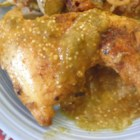 Suegra's Tomatillo Chicken - Chicken pieces are seared and then simmered in a tomatillo sauce. This is my mother in law's recipe from the state of Zacatecas, Mexico. Serve with warm tortillas and your choice of rice or beans as side. We recommend a cold cola pop to accompany your delicious meal.