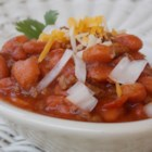 Chilly Day Chili - A chilly day will be more cozy with a pot of this light and easy chili simmering on the stove. You can also cook it in the slow cooker for 8 hours on Low or 3 hours on High.