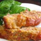 Turkey Cheeseburger Meatloaf - Ground turkey and turkey bacon add lightness to a meatloaf with the taste of a bacon cheeseburger.