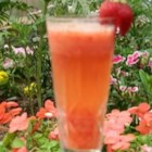 Strawberry Bellini - Pureed strawberries are topped with sparkling wine for a colorful and fruity drink perfect for showers or a brunch.