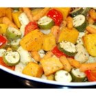 Roasted Vegetables - Your favorite vegetables such as zucchini, eggplant, carrots, tomatoes, bell peppers and onions roasted in olive oil with herbs, garlic and lemon.