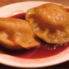 Plum Dumplings - Delicious Italian plum dumplings in a yummy brown sugar sauce are a family favorite. This recipe came from Istria, in the former Yugoslavia.