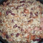 Ground Beef and Sausage in Red Beans and Rice - My current version of a classic recipe here is still a work in progress, but it's a pretty good one. This is a meal in itself, and tastes even better the next day when reheated.