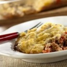Meatloaf Casserole - Terrific taste in this meatloaf casserole and the additional flavors in the potato frosting make this a show-stopping dinner.