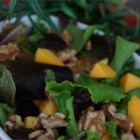 Chicken Salad with Peaches and Walnuts - For this salad use whatever fruit is fresh and ripe. If peaches are not in season, try using melons or oranges.  Nectarines are also delicious in this recipe.