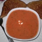 Rachel's Tomato Basil Soup - Fresh basil is the key to this delicious and creamy tomato soup.  Serve with homemade French bread for a special treat!