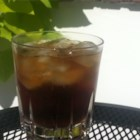 Mock Moxie - One of the most unusual alcoholic beverages I've ever had - Canadian whiskey is mixed with root beer.