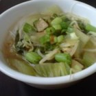My Chicken Pho Recipe - Here's a great home version of the traditional Vietnamese dish, pho.  Just stir chicken, bok choy, and bean sprouts into aromatic infused chicken stock and serve over hot noodles.