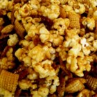 Caramel Corn Snack Mix - This is a sweet party snack mix recipe.