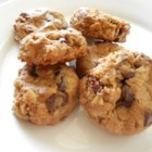 Whole Grain Breakfast Cookies - Breakfast cookies made with whole grains like rolled oats, flax meal, and whole wheat flour have the flavor of dried cherries and chocolate chips for a tasty breakfast on the run.
