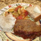 Meatloaf that Doesn't Crumble - I have tried and tried meatloaf recipes they all fall apart before you get them out of the pan. This meatloaf is very good and sticks together to be served.  Leftover meatloaf makes wonderful sandwiches with mayonnaise.