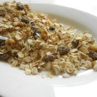Muesli - Eat your muesli! If you've never tried this granola-like breakfast treat, this is a great recipe. Lots of bran and oats and raisins and nuts, with just enough brown sugar to add a bit of sweetness. Serve as is with soy milk, or plop the bowl in the microwave and eat it warm.