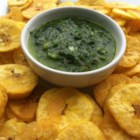 Plantain Chips - Scoop up a ceviche or some guacamole with these green plantain chips; a little sweet, a little salty, and really good!