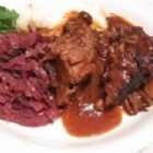 Traditional Sauerbraten - Marinated for at least 2 days, this deeply flavorful roast is tangy and savory.