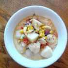 Codfish Chowder - An easy and satisfying cod chowder is ready to eat in just 1 hour. The rich soup has plenty of potatoes, bacon, and corn.