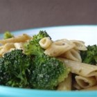 Bowties and Broccoli - Bowties, steamed broccoli, and Romano cheese - Delicious!