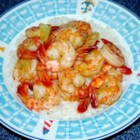 Honey Ginger Shrimp - This quick and easy, sweet and spicy dish combines honey, ginger, shrimp and garlic, and can be served over steamed vegetables or pasta.
