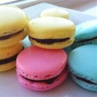 French Macaroons - Light French macaroons (not the coconut kind) can be tinted and filled with all kinds fillings.