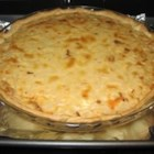 Vidalia Onion Tart - Sweet onions are whisked together with sour cream and eggs, flavored with leek soup mix and finished with shredded Monterey Jack cheese.