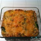 Cheesy Broccoli Chicken Casserole - An all-in-one casserole with Cheddar cheese, cooked chicken, and fresh broccoli gets extra flavor from a packaged rice side dish.
