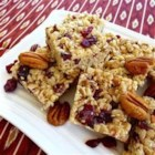 Cranberry Trail Bars - This is a power version of traditional crispy rice treats made with different nuts, coconut and cranberries.