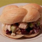 Simply The Best Chicken Waldorf Salad - A version of popular Waldorf salad made with chicken breasts, roasted walnuts, apple, dried cranberries, and grapes is served in a light mayonnaise and yogurt dressing.