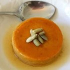 Low-Fat Pumpkin Flan - Rich and creamy pumpkin flan gets a makeover by substituting low-fat milk and half-and-half for the cream.