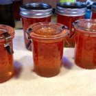 Habanero Pepper Jelly - Grated carrots add a nice color and texture to this blazing hot pepper jelly.