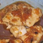 Apricot Chicken I - Quickly prepared with jam, soup mix and bottled salad dressing, this chicken will surprise you with its intricate melding of flavors.