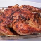 Michelle's Roast Chicken - Chicken bakes in a complex Asian marinade of soy sauce, onion, ginger, garlic and oyster sauce that gets its heat from chili sauce and powder.  Be sure to serve with rice so you can savor every last drop.
