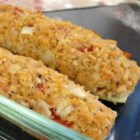 Tuna Stuffed Zucchini - A light tuna stuffing fills these easy stuffed baked zucchini halves.