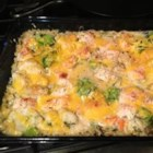 One-Dish Chicken, Vegetable and Rice Bake - Cover and bake are welcome words in a busy world. This casserole can be mixed in 5 minutes, and then you have an hour to supervise homework, run an errand, or just relax while the oven prepares dinner.