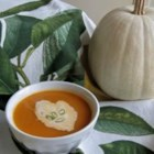 Roasted Red Bell Pepper Soup - Roasted red peppers are pureed with cannellini beans, sauteed onions, and garlic in this chicken broth based soup.