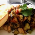 Sweet Potato Turkey Hash - Great for leftover turkey the morning after.
