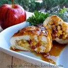 Apple Stuffed Chicken Breast - Cheddar cheese and sweet apple are enclosed in sauteed chicken breasts.