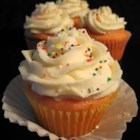 Simple and Delicious Buttercream Frosting - Just shortening, butter, vanilla extract, confectioners' sugar, and milk can make a simple buttercream frosting for whatever you decide you want to frost!