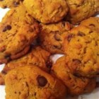 Pumpkin Oatmeal Chocolate Chip Cookies - Pumpkin puree brings a colorful dimension to these tasty, chocolate chip oatmeal cookies.