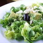 Great Green Salad - Yummy green feta salad, great for summer evenings! Add as many fruits and vegetables as you wish - I usually add pears or tangerines depending on the season.