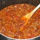 My Chili - If you want a good, basic chili recipe, this is it.  No odd vegetables, or secret ingredients, just ground beef, tomatoes, red kidney beans, and the usual spices.  Simple and delicious.