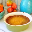 Gram's Persimmon Pudding - A simple baked persimmon pudding with just a hint of cinnamon. This recipe was found in my grandma's recipe box. I made it for Thanksgiving and it was a huge hit!