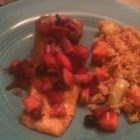 Photo of: Curried Salmon with Summer Fruit Chutney - Recipe of the Day
