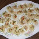 Southern Style Deviled Eggs - Deviled ham puts the Deviled into Deviled eggs.