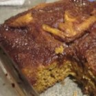 Autumn Pumpkin Coffee Cake - The sugary topping of this pumpkin cake melts to create a delicious caramel layer.