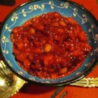 Apricot/Cranberry Chutney - A terrific recipe that my mother-in-law gave me. We have enjoyed it as an alternative to the traditional cranberry sauce! She doesn't mind sharing it!