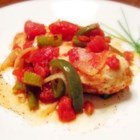 Chicken Creole - A simple vegetable saute with a little cayenne makes a tasty sauce for baked chicken.